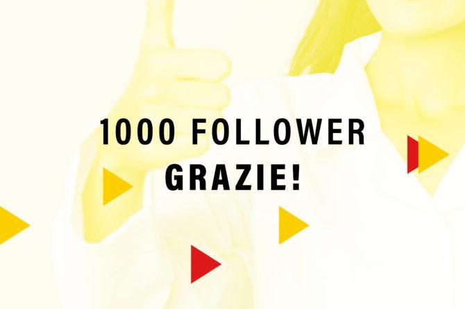 1000 Follower su Facebook!